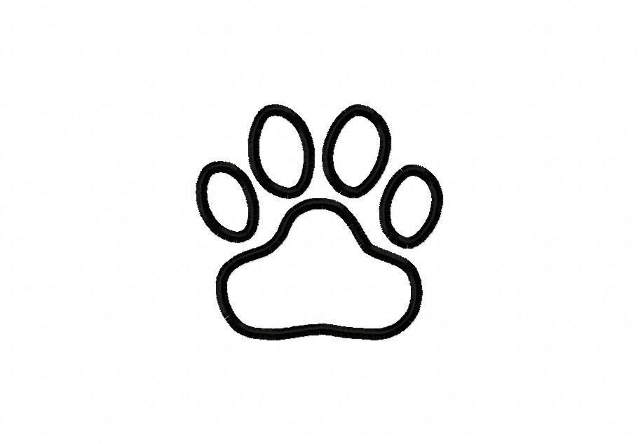Tiger Paw Print Tiger Paw Print Embroidery