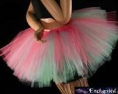 Candyland three layer tutu skirt mini pink aqua mint Adult dance costume bridal teen --You Choose Size -- Enchanted