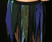 Mermaid monster pirate point skirt costume blue green black-- Small --Ready to Ship -- Enchanted