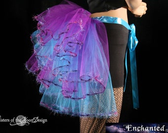 Fairy Magic beautiful trimmed burlesque tie on bustle--One Size XS-XL