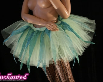 fairy tutu skirt Lime crime adult green teal lace points halloween dance costume ren faire --You Choose Size -- Enchanted