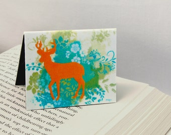 Magnetic Bookmark, Woodland Deer, Party Favor, Teacher Gift