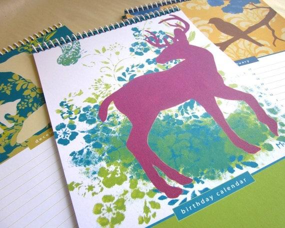 Perpetual Birthday Calendar, Event Reminder, Art Prints, Large