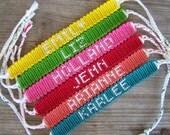 Reserved for Katie Small Alpha Name/Team Friendship Bracelet Font 1 CUSTOM ORDER FORM