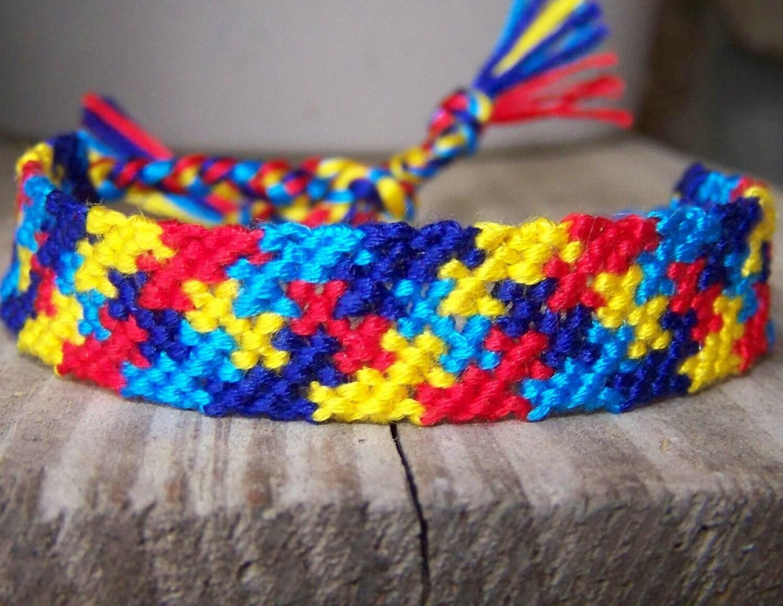 Autism Awareness Puzzle Friendship Bracelet