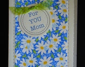 MOM, Religious Handcrafted Birthday Card by Lynelle (BD80) front design is FABRIC.....Buy any 10 items, get 1 FREE