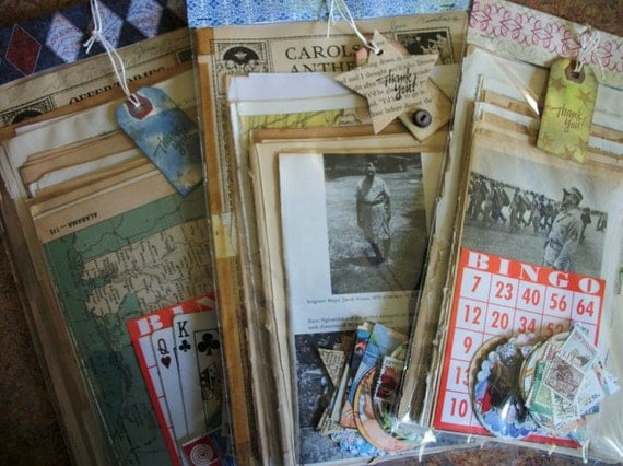 RESERVED for Jo Vintage Ephemera Pack 100 pieces PLUS, Book Pages, Vintage Advertising, Altered Art Supply, Smash Books