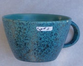Felix Tissot Blue Matte Splatter Glazed Tea / Coffee Cup 2 of 8