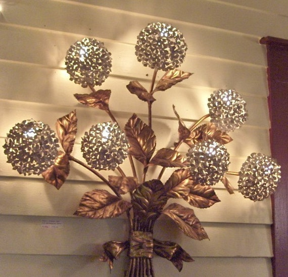 Wall Sconces With Flowers: One Day Showcase Sale Fabulously Large 7 Flower Hydrangea