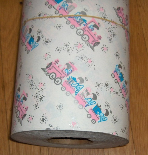 on Reserver for jenwhite69, 7-10 1Train Riding Angels Bearing Gifts,  Department Store  Baby Gift Wrapping Roll