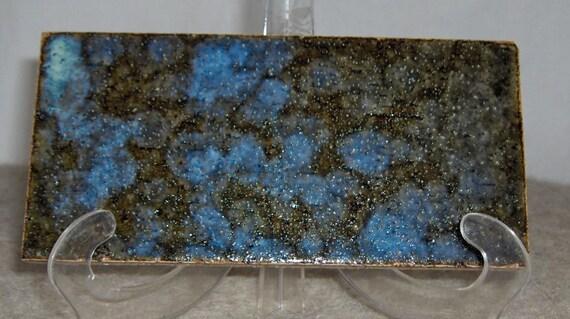 On Reserve ~ 24 Crystallized Glazed Blue Vintage Handmade Japanese Unset Tiles