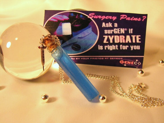 Glowing Zydrate Vial Necklace