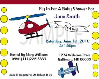 Shower Invitation, Planes