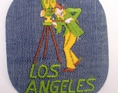 Los Angeles California Movie Maker Authentic Vintage Sewing Patch Applique Collectible