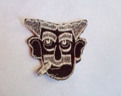 Groucho Marx Comedian Brown Tan Smoking Man 1970's New Vintage Patch Applique