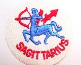 Unique Sagittarius Vintage Sewing Patch from 1970s Retro