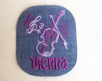 Vienna Austria Music Artistic City Collectible 1970's Vintage Sewing Patch Applique