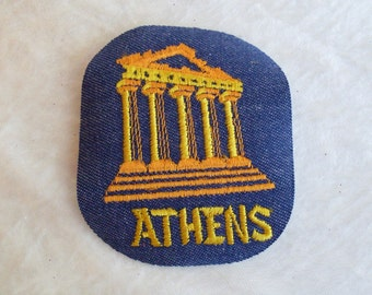 Athens Ancient City of Greece Vintage Sewing Patch Applique 1970's