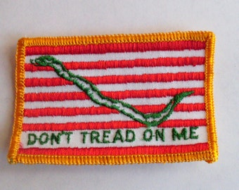 Gadsden flag Dont Tread On Me United States American Flag Retro Vintage 1970's Sewing Patch Applique