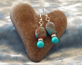 Saturn Jasper with Turquoise  Earrings