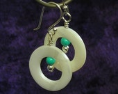 White Mother of Pearl Circle Earrings