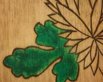 Leaves of Green, Part 1 Encaustic Mixed Media