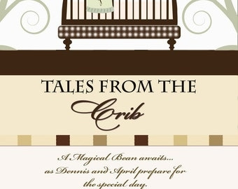 Story Book Baby Shower Invitation - Tales from the Crib - Story Book Themed Baby Shower