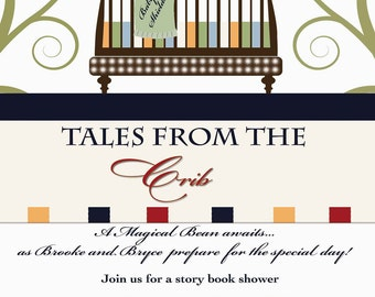 Personalized Story Book Baby Shower Invitation -  Storybook Invitation - Book Library Baby Shower - Print Your Own