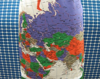 The world map design skirt with elastic waistband plus made in USA