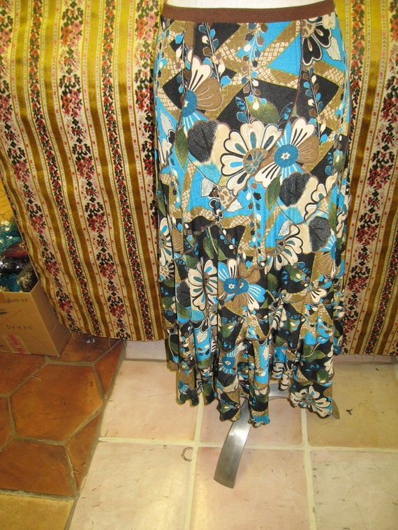 mix color floral pattern skirt (V165)