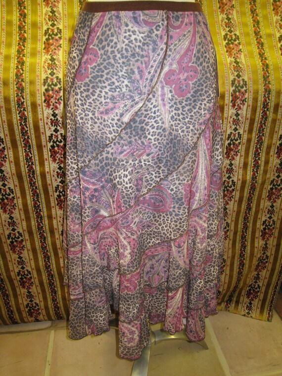 Paisley prints pattern skirt (v13)