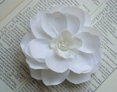Cute as a Button Design - Bridal and Flower Girl Hair Clips in White or Ivory