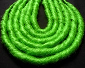 Lime Green - DE Synth Dreads - 6 Count - Solid - Synthetic Dreadlocks