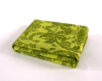 Tissue Paper Damask Chartreuse Tapestry. Moss Green. Decorative Paper. Pattern Collage. Floral. Anthropologie. Spring Gift Packaging.