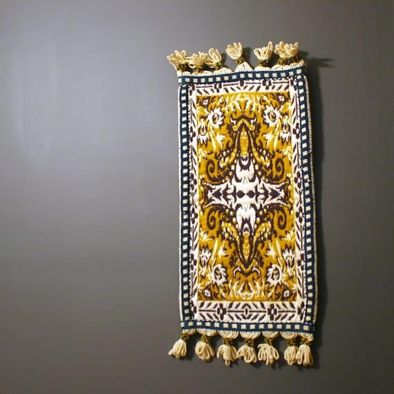 Vintage Rug. Tapestry. Carpet. Bathroom Rug. By RhapsodyAttic