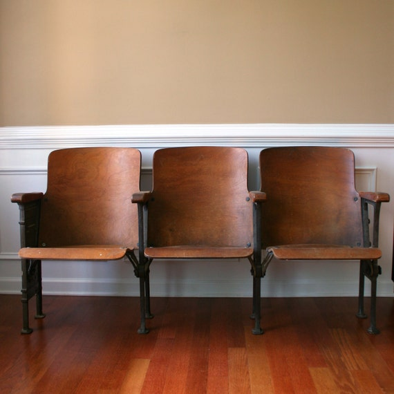 Chairs. Movie Theater Chairs. Man Furniture. By RhapsodyAttic