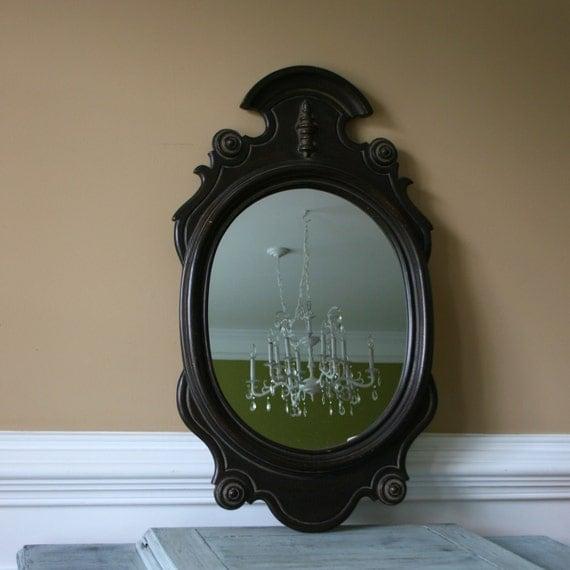 Decorative Mirror. Traditional Federal Mirror. Brown. Classic. 1970s. VestiesTeam. eveteam. Curationnation. Rhapsody Attic.