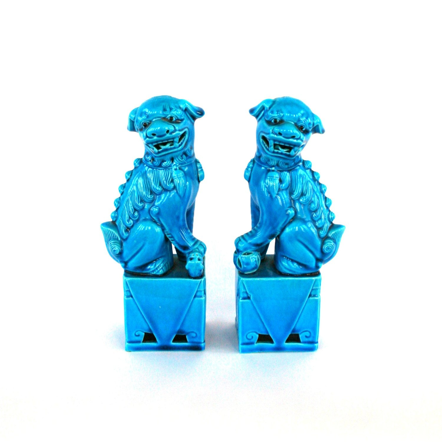 Antique Turquoise Blue Foo Dogs Pair Lions Statue Elle : ilfullxfull217497672 from www.etsy.com size 1500 x 1500 jpeg 169kB
