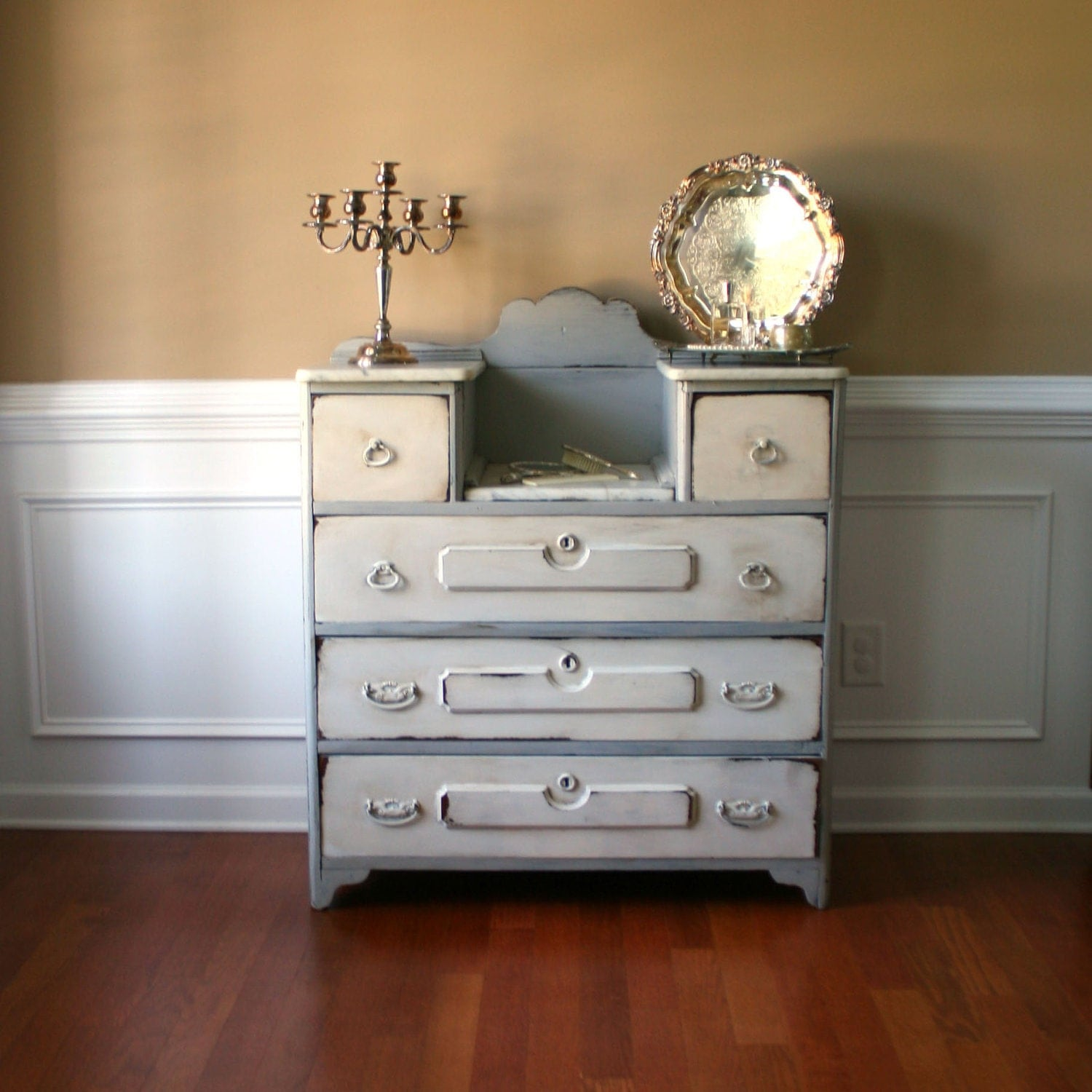 Dresser Highboy Chest Drawers Vanity Antique Shabby Chic