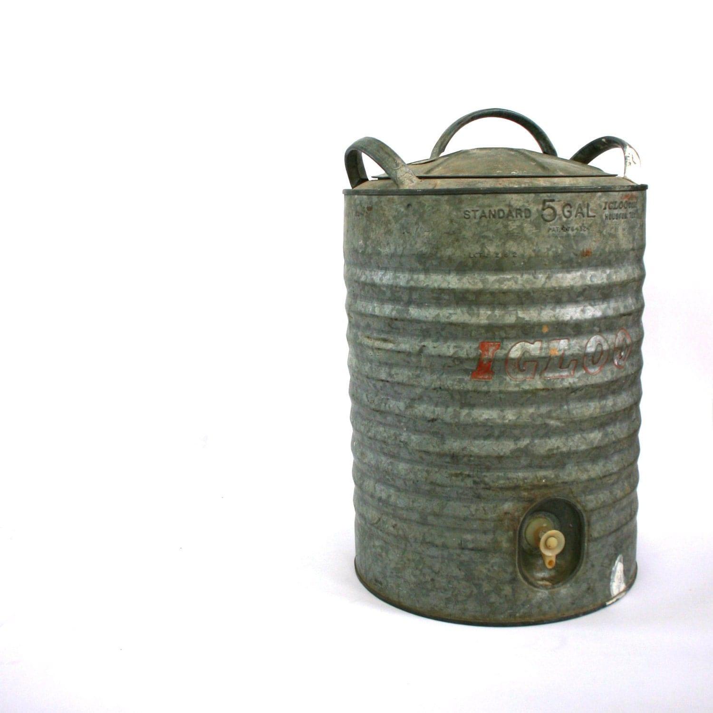 Vintage industrial igloo water ice cooler by rhapsodyattic - Igloo vintage ...