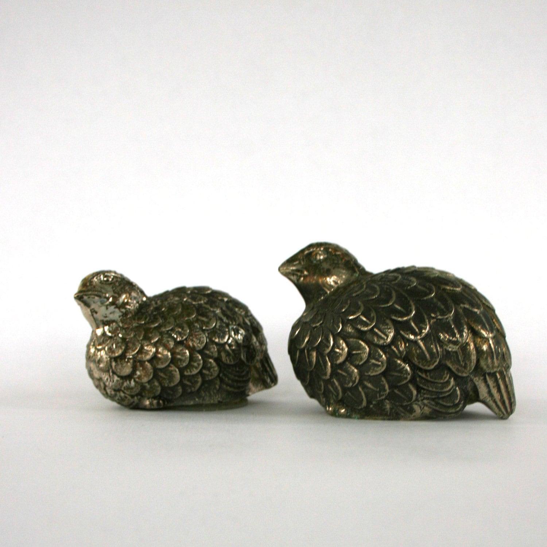Vintage Quail Salt And Pepper Shakers Pheasant Bird