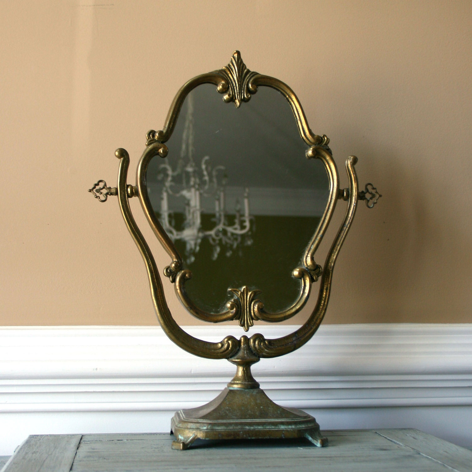 antique vanity mirror with stand makeup ornate mirror. Black Bedroom Furniture Sets. Home Design Ideas