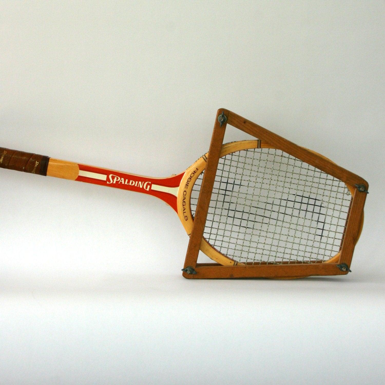 Eclectic Decor Wooden Tennis Racket Tennis Raquet Spalding Tennis Racket