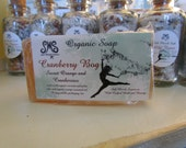 Cranberry Bog Soap Customers Favorite Cranberry infusion with Sweet Orange Organic Essential oil.