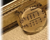 Vintage Music Glass Paperweight  - 5Dollar
