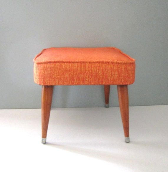 RESERVED   Rest Your Feet  Mid Century Foot Stool