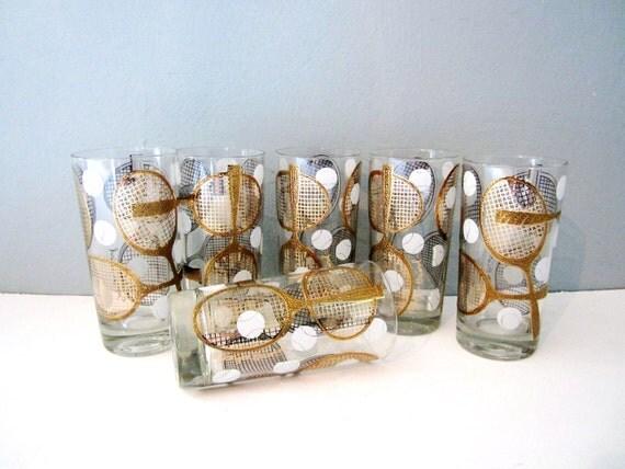Georges Briard Tennis Highball Glassware