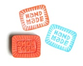 Hand Made hand carved rubber stamp