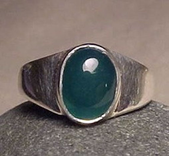 JADE Crystal Silver Jewelry Ring ORGANIC GEMSTONE Art - Great Bridesmaid Gift - available in size 5.5