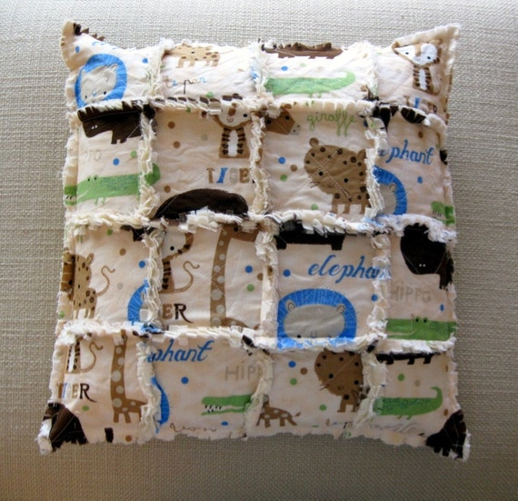 SPECIAL - Half Price Sale - The At Home Zoo - adorable animals pillow cover